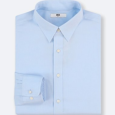 MEN EASY CARE BROADCLOTH REGULAR-FIT LONG-SLEEVE SHIRT (ONLINE EXCLUSIVE), BLUE, medium