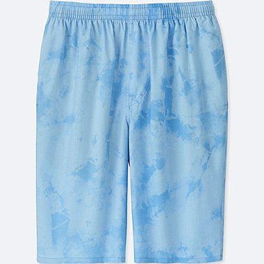MEN MICKEY AND THE SUN LIGHT COTTON EASY SHORTS, BLUE, medium