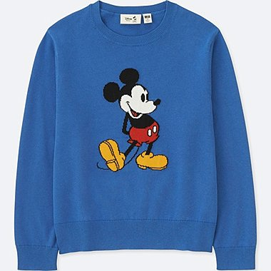 KIDS DISNEY COLLECTION MICKEY SWEATER, BLUE, medium