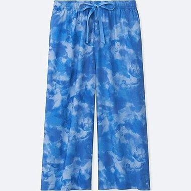 WOMEN MICKEY & THE SUN RELACO 3/4 SHORTS, BLUE, medium