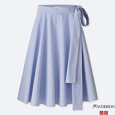 WOMEN J.W.ANDERSON 100% COTTON HIGH WAIST FLARE SKIRT