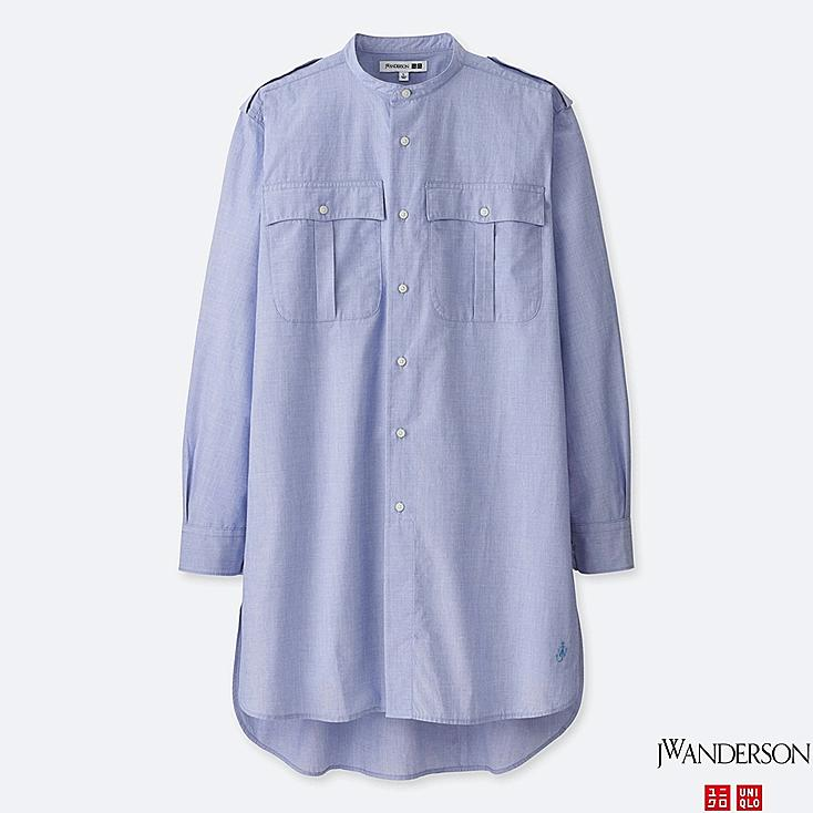 MEN JWA STAND COLLAR LONG-SLEEVE SHIRT | Tuggl