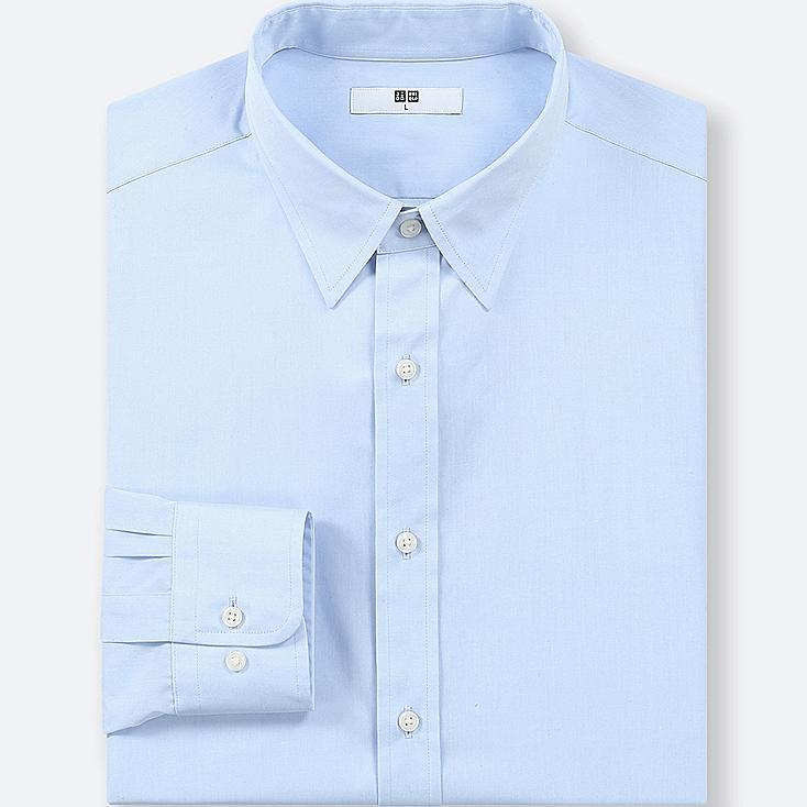 MEN EASY CARE BROADCLOTH REGULAR-FIT SHIRT (ONLINE EXCLUSIVE), BLUE, large