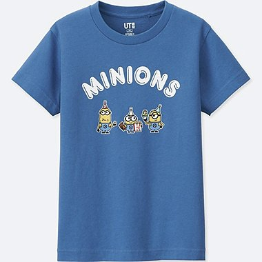 KIDS MINIONS SHORT-SLEEVE GRAPHIC T-SHIRT, BLUE, medium