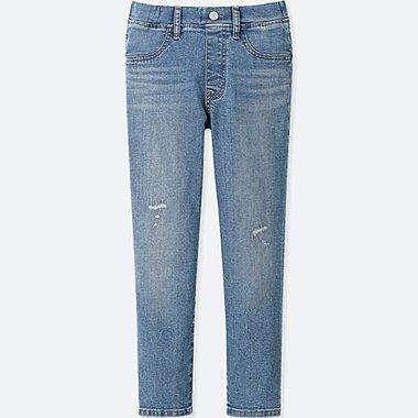 Mädchen Ultra Stretch Hose (Slimm Fit, 7/8 Länge, Hoher Bund)