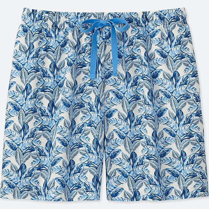 WOMEN TABITHA WEBB LEAF-PRINT RELACO SHORTS, BLUE, large