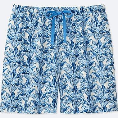 WOMEN TABITHA WEBB LEAF-PRINT RELACO SHORTS, BLUE, medium