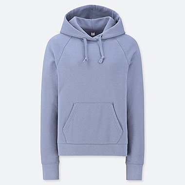 WOMEN LONG-SLEEVE HOODED SWEATSHIRT, BLUE, medium