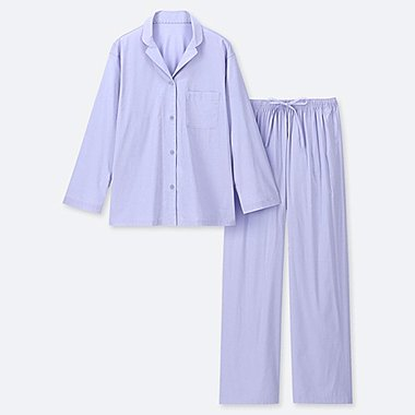 WOMEN SOFT STRETCH LONG SLEEVED PYJAMAS