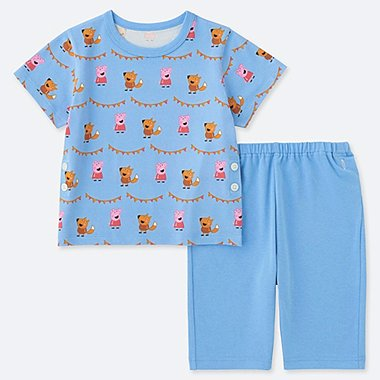 TODDLER PEPPA PIG DRY SHORT-SLEEVE PAJAMAS, BLUE, medium