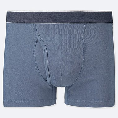 MEN SUPIMA® COTTON BOXER BRIEFS, BLUE, medium
