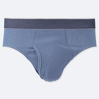 MEN SUPIMA® COTTON BRIEFS, BLUE, medium