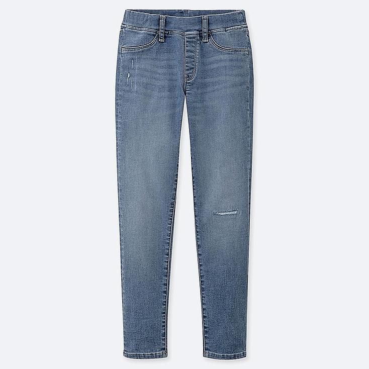 GIRLS ULTRA STRETCH DENIM SKINNY FIT PANTS, BLUE, large