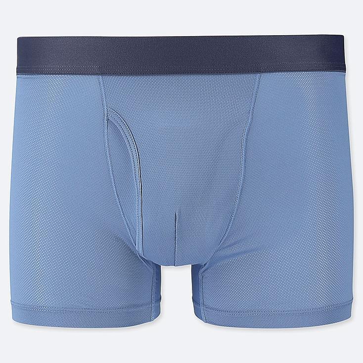 MEN AIRism MESH BOXER BRIEFS, BLUE, large