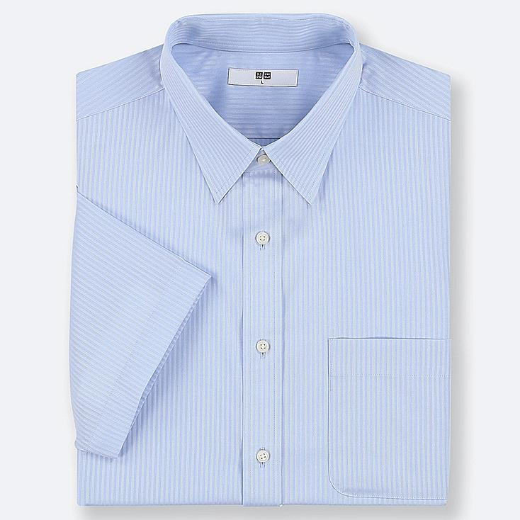 MEN DRY EASY CARE DOBBY SHORT-SLEEVE SHIRT (ONLINE EXCLUSIVE), BLUE, large