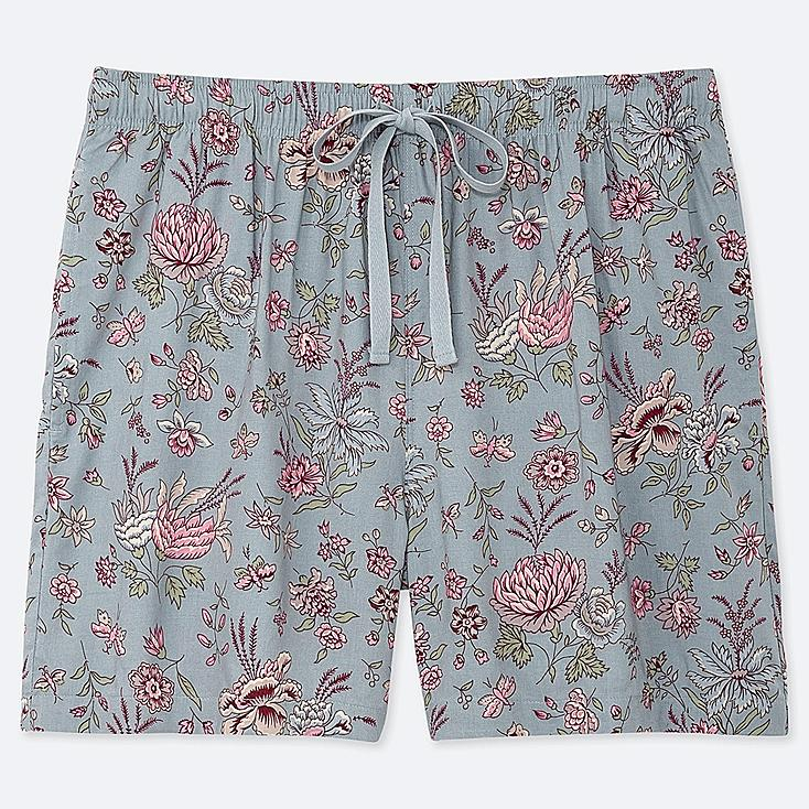 WOMEN PROVENCE PRINTED RELACO SHORTS, BLUE, large