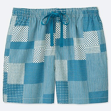 WOMEN U KAMAWANU COTTON RELACO SHORTS, BLUE, medium