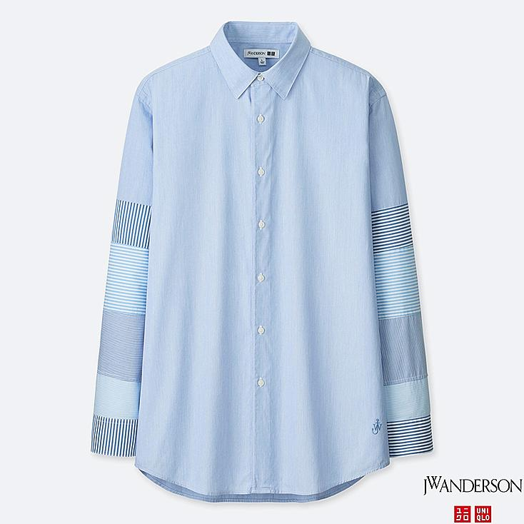 MEN EXTRA FINE COTTON BROADCLOTH LONG-SLEEVE SHIRT (JW Anderson), BLUE, large