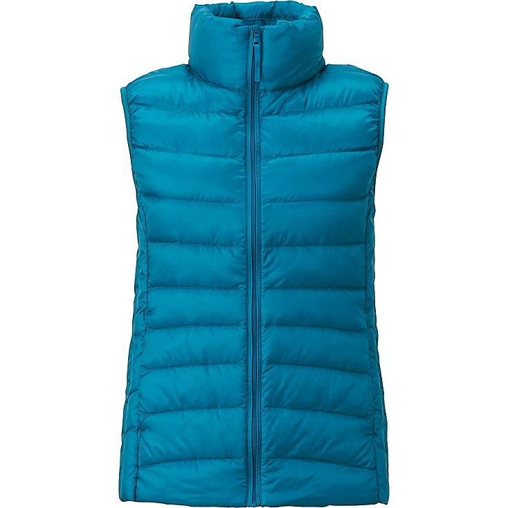 WOMEN ULTRA LIGHT DOWN VEST, BLUE, large