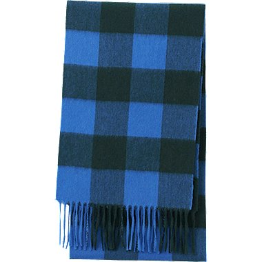 CASHMERE SCARF, BLUE, medium