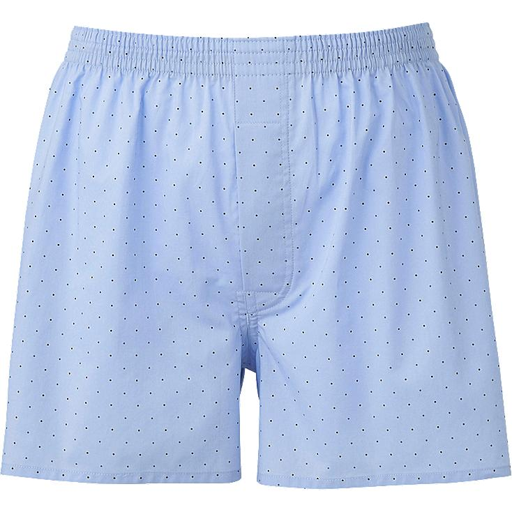 MEN DOTS TRUNKS, BLUE, large