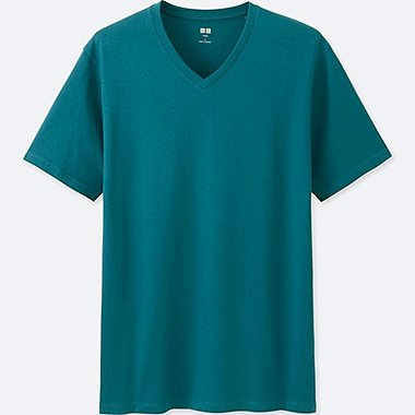 Men Supima® Cotton V-Neck T-Shirt, BLUE, medium
