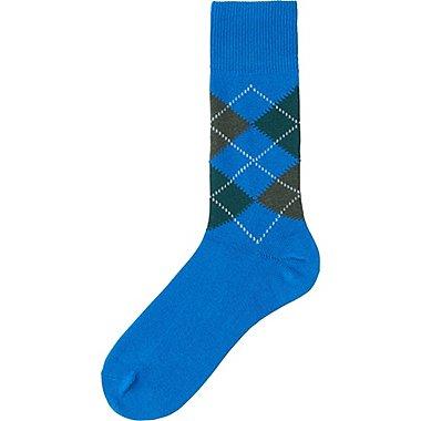 MEN ARGYLE SOCKS, BLUE, medium