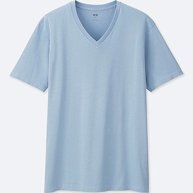 MEN Supima Cotton V Neck Short Sleeve T-Shirt