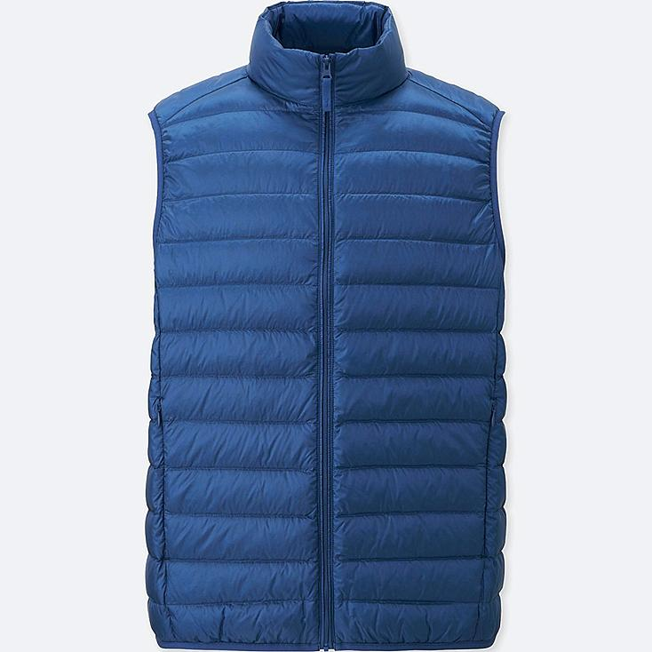 Ultra Light Down Vest, BLUE, large