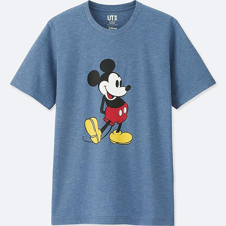 MEN MICKEY STANDS SHORT-SLEEVE GRAPHIC T-SHIRT, BLUE, large