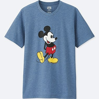 MICKEY STANDS SHORT-SLEEVE GRAPHIC T-SHIRT, BLUE, medium