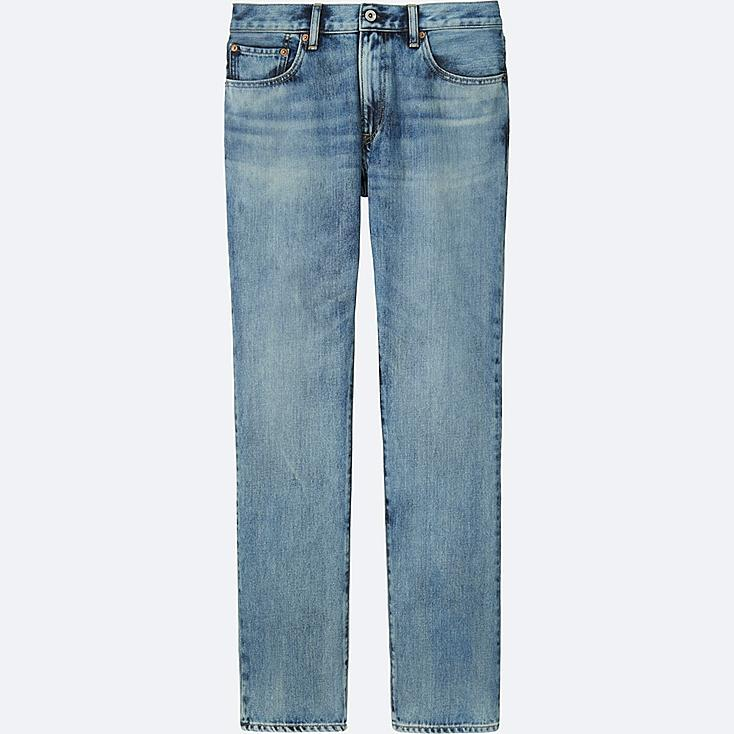 MEN REGULAR FIT JEANS, BLUE, large