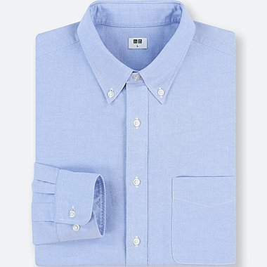 MEN OXFORD REGULAR FIT LONG-SLEEVE SHIRT (ONLINE EXCLUSIVE), BLUE, medium