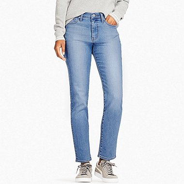 WOMEN HIGH RISE CIGARETTE JEANS, BLUE, medium