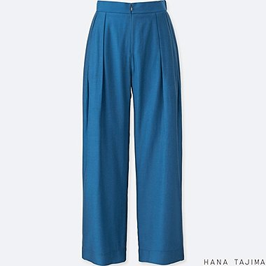 WOMEN TENCEL TUCK WIDE PANTS