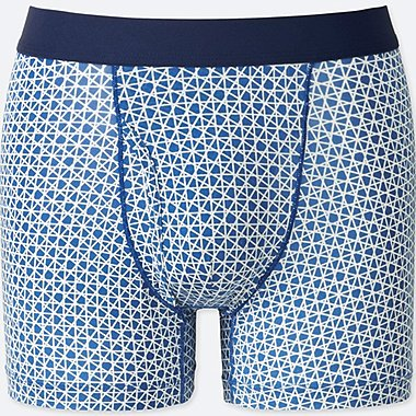 MEN AIRism SPRZ NY BOXER BRIEFS (FRANCOIS MORELLET), BLUE, medium