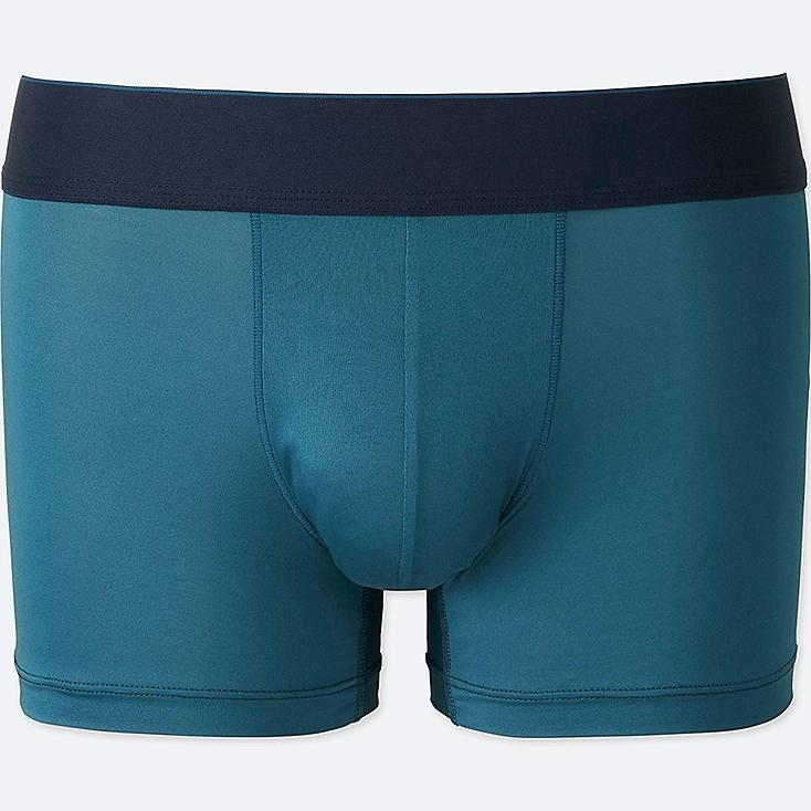 MEN AIRism LOW RISE BOXER BRIEFS, BLUE, large