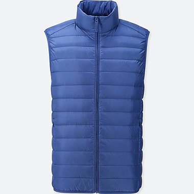 MEN ULTRA LIGHT DOWN VEST, BLUE, medium