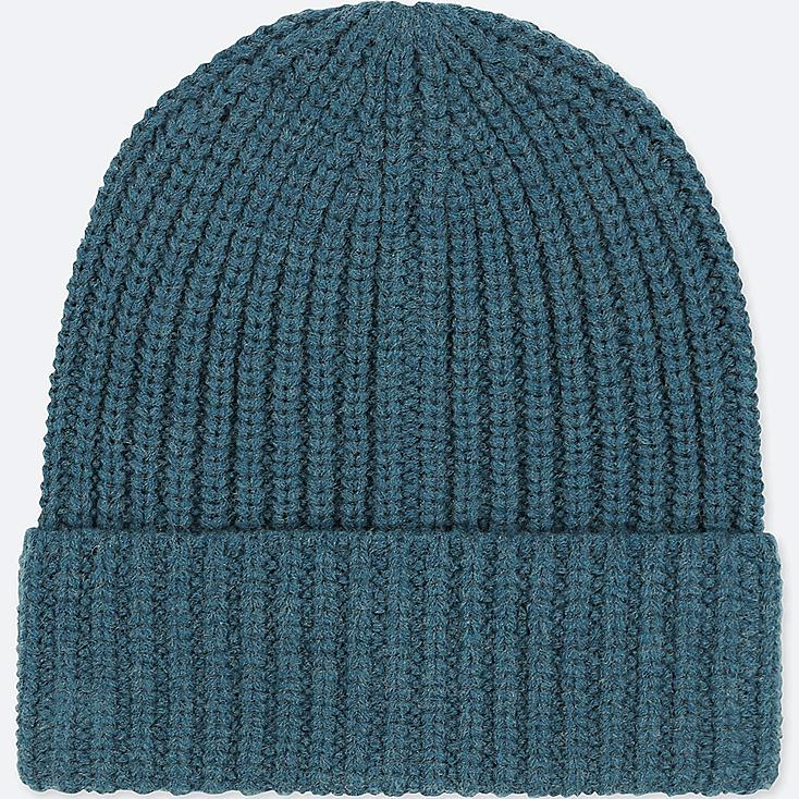 HEATTECH KNITTED CAP, BLUE, large
