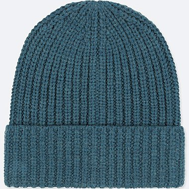 HEATTECH KNITTED CAP, BLUE, medium