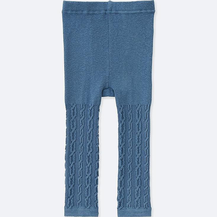 TODDLER KNITTED LEGGINGS, BLUE, large