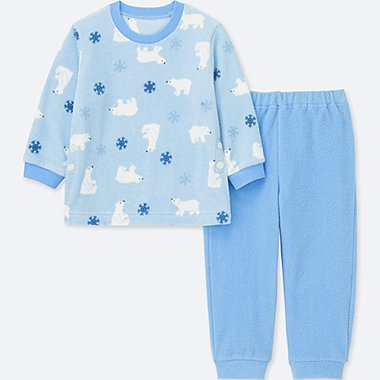 BABIES TODDLER STRETCH MICRO FLEECE LONG SLEEVE PYJAMAS