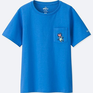 WOMEN SPRZ NY GRAPHIC T-SHIRT (KEITH HARING), BLUE, medium
