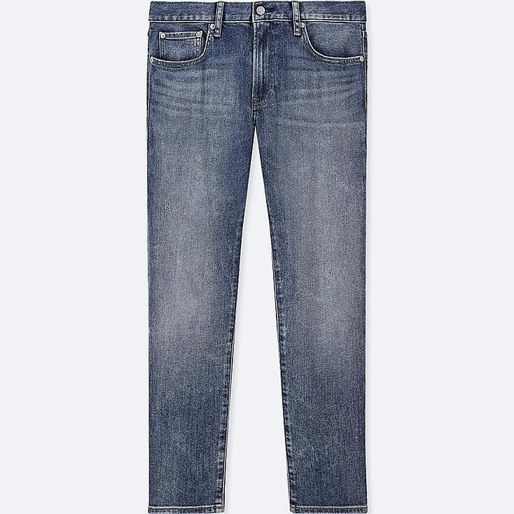 MEN STRETCH SLIM-FIT JEANS, BLUE, large
