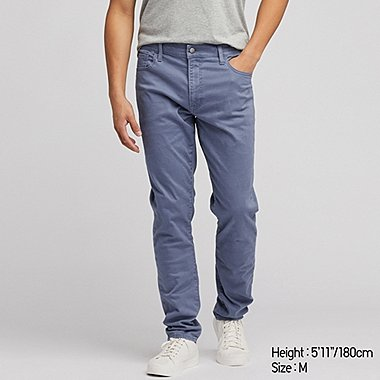 MEN EZY SKINNY FIT COLOR JEANS, BLUE, medium