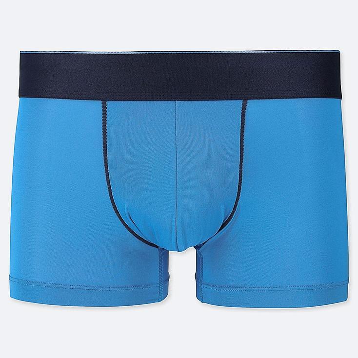 MEN AIRism LOW-RISE BOXER BRIEFS, BLUE, large