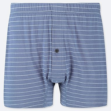 MEN KNIT STRIPED BOXER TRUNKS