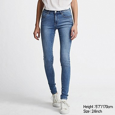 WOMEN ULTRA STRETCH CURVY FIT JEANS, BLUE, medium