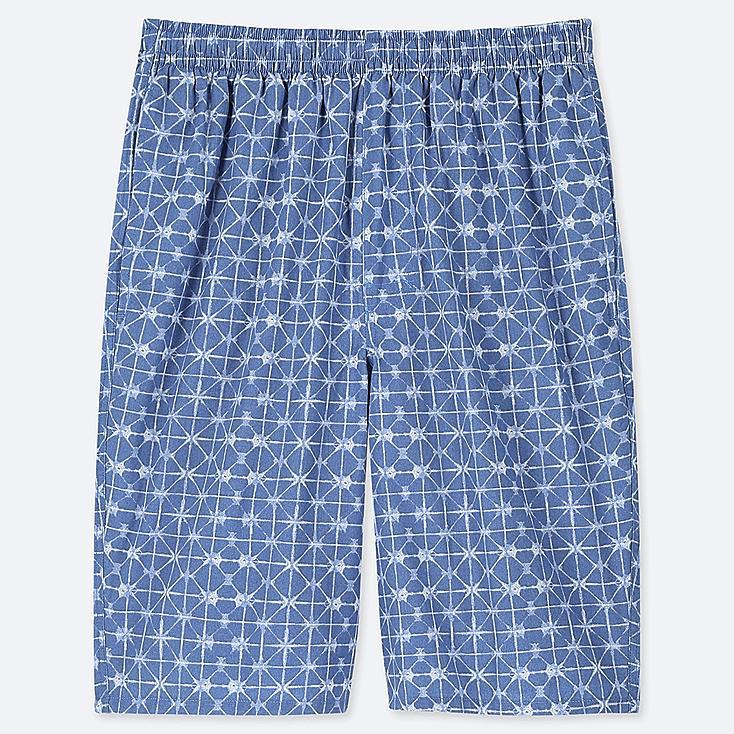 MEN LIGHT COTTON EASY SHORTS (ONLINE EXCLUSIVE), BLUE, large