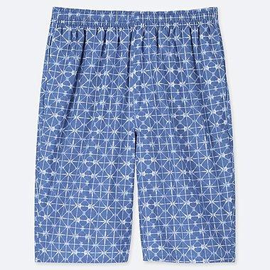 MEN LIGHT COTTON EASY SHORTS (ONLINE EXCLUSIVE), BLUE, medium